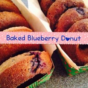 baked blueberry donut