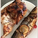 Whole Chicken & Whole Bass Grilled to Perfection