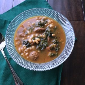White Bean Sausage and Kale Soup