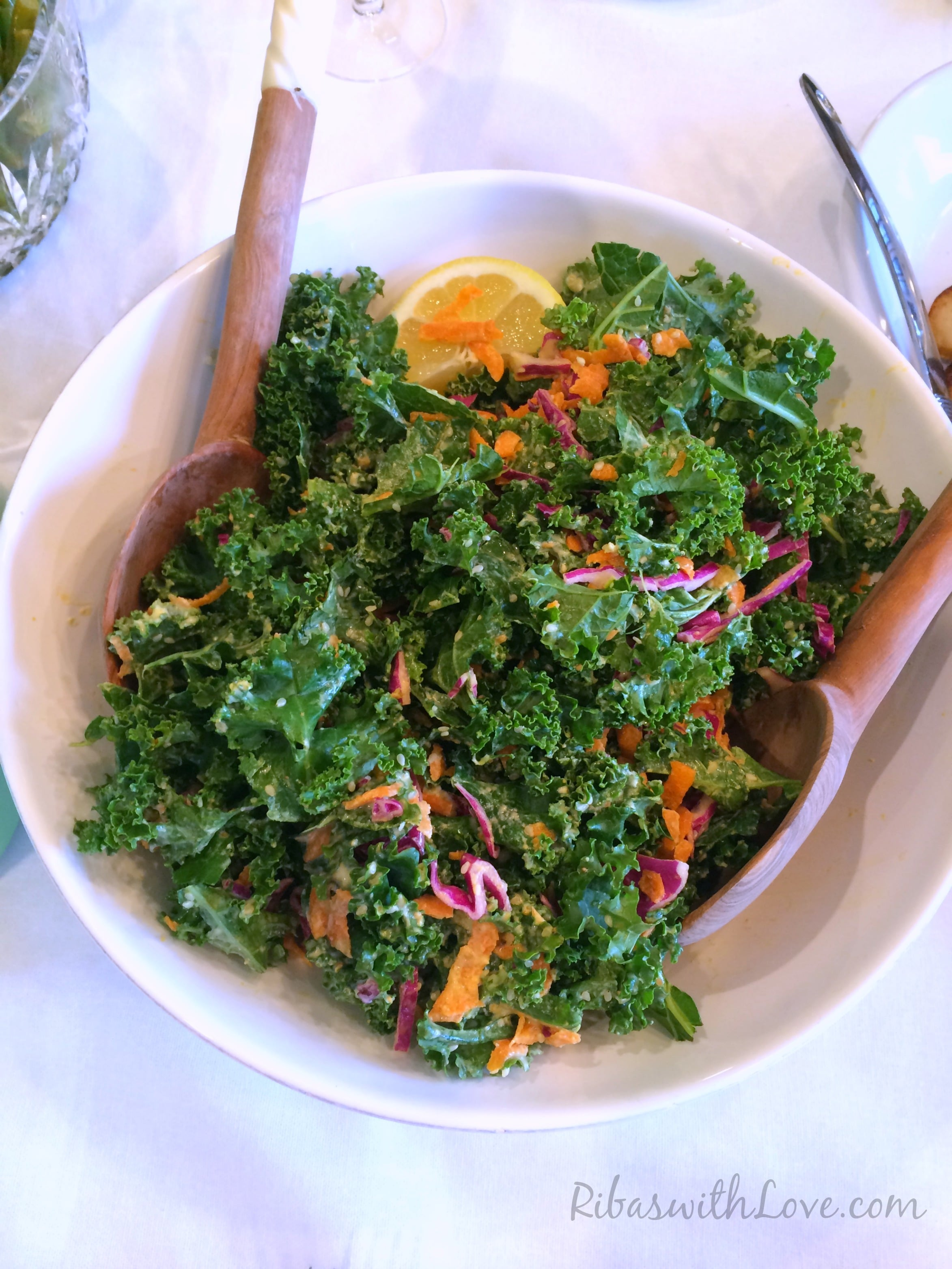 http://gardeninthekitchen.com/kale-salad-with-sweet-creamy-dressing/