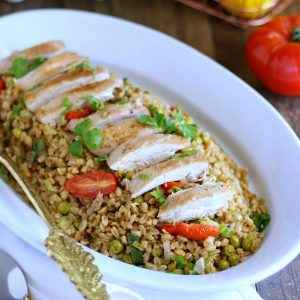 Roasted Chicken With Farro Spring Garden