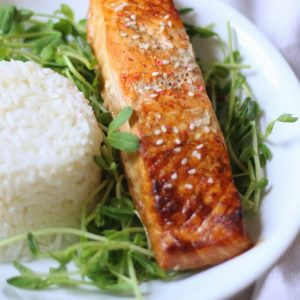 Sesame Teriyaki Salmon In Foil