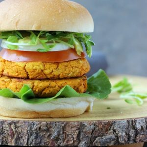Spicy Veggie Burger (Vegan + GF)