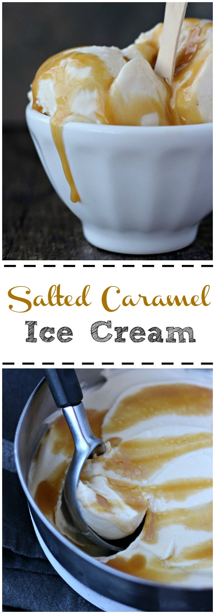 This salted caramel ice cream recipe is to die for. A rich caramel layer that melts in your mouth, distracted by a settled note of sea salt, washed by a creamy wave of sweet caramel ice cream! gardeninthekitchen.com