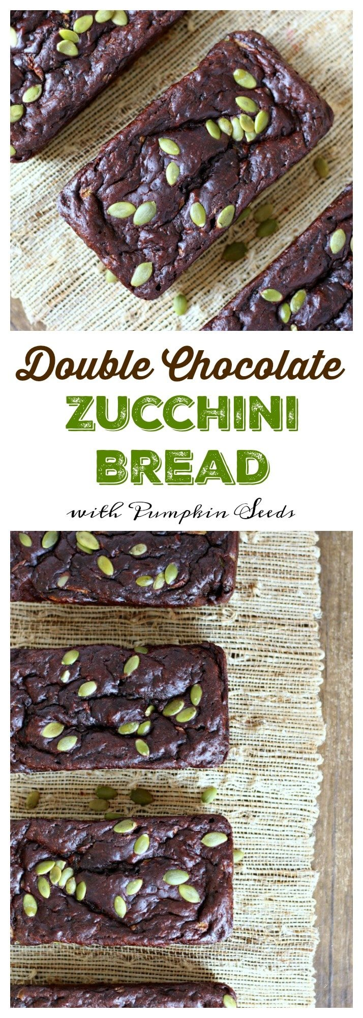 This soft, rich and moist double chocolate zucchini bread is a delicious option for breakfast and dessert! gardeninthekitchen.com