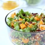 Sweet Potato Kale Salad with Citrus Vinaigrette Dressing