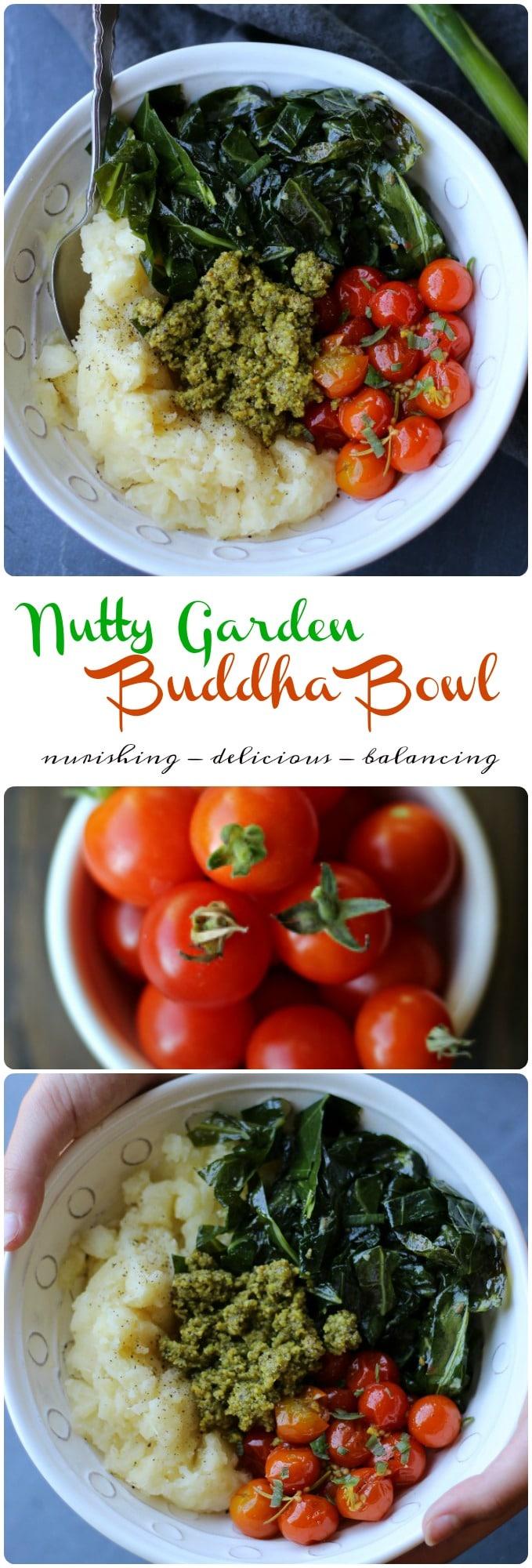 Garden inspired Vegan Buddha Bowl jammed packed with the best earthy flavors! gardeninthekitchen.com