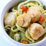 Scallop Scampi with Zucchini Noodles