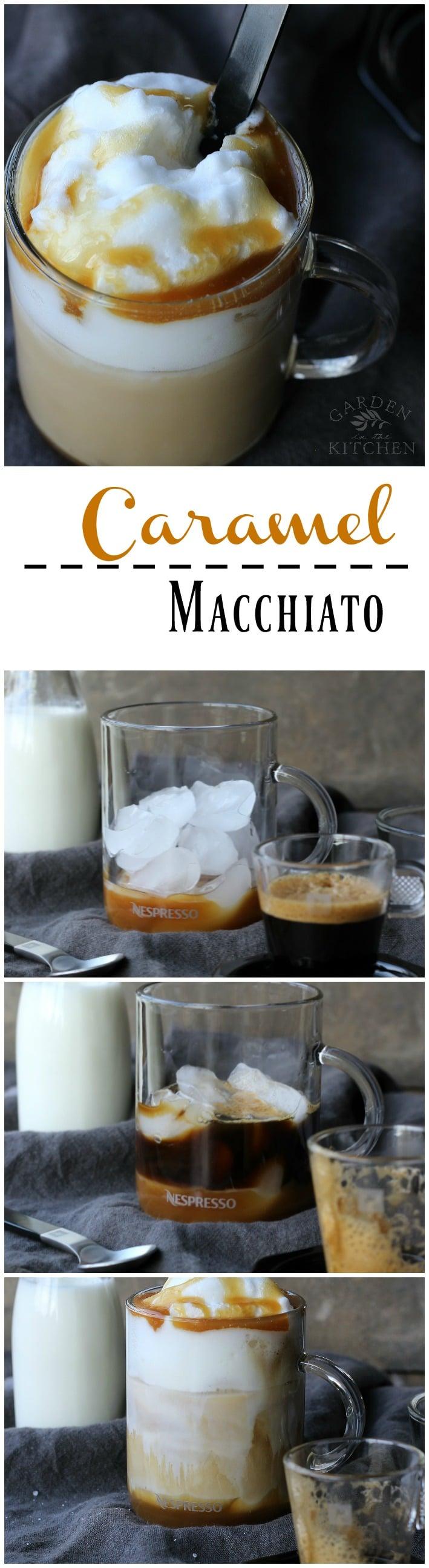 Iced Caramel Macchiato | gardeninthekitchen.com