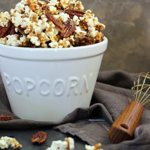 Salted Caramel Pecan Popcorn