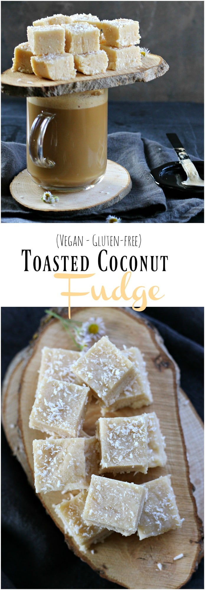 Vegan and Gluten-free, these DELICIOUS Toasted Coconut Fudge only takes 10 minutes to make! gardeninthekitchen.com