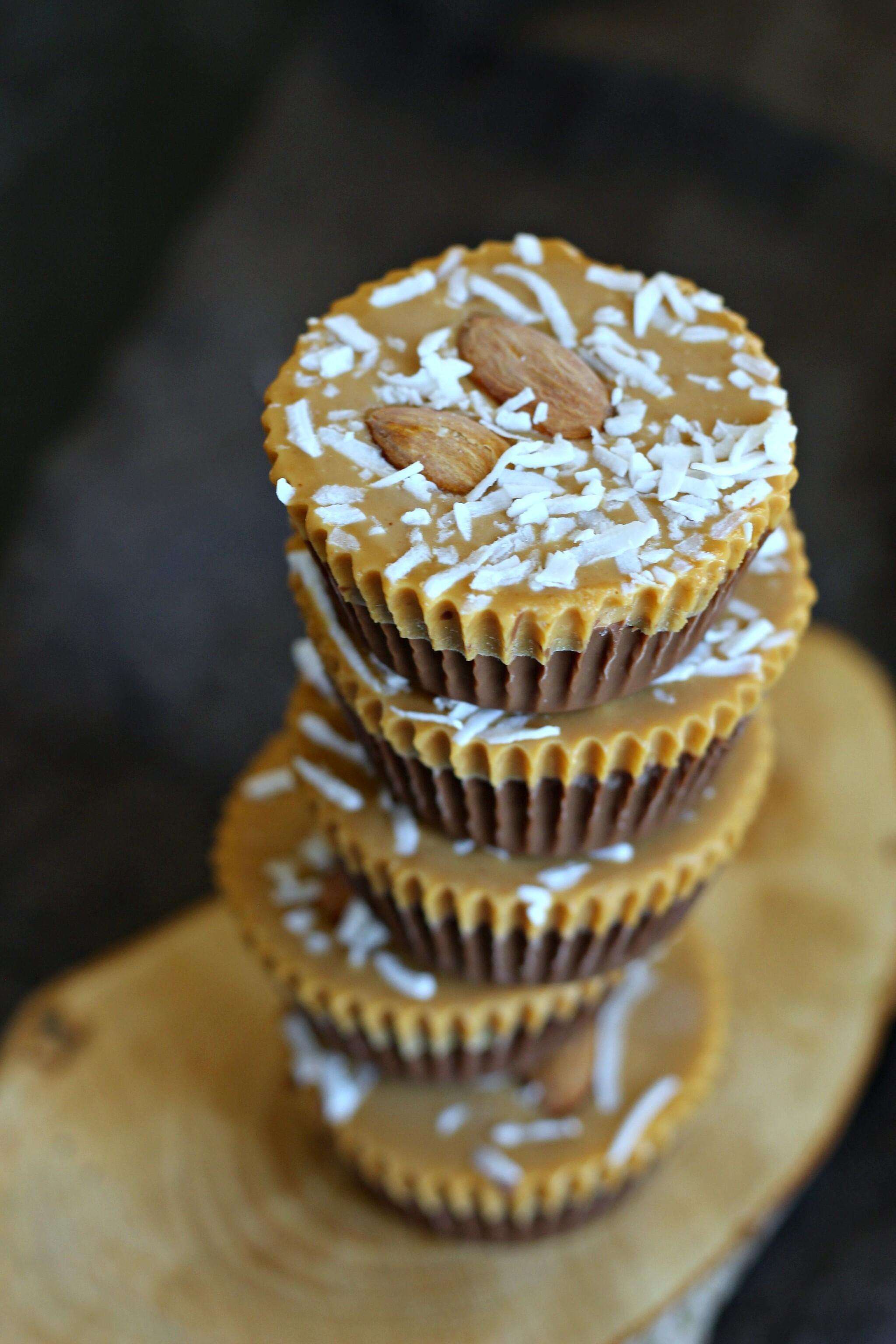 Delicious allergy friendly Vegan and Gluten-free Chocolate Peanut Butter Cup   gardeninthekitchen.com