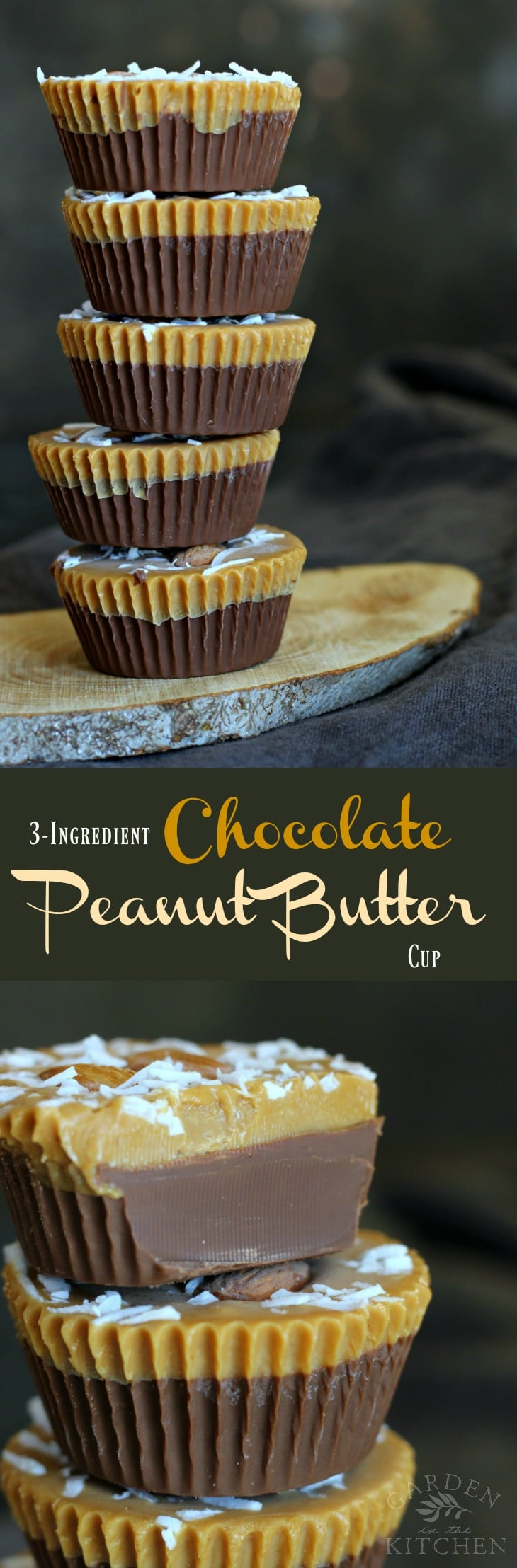 Delicious allergy friendly Vegan and Gluten-free Chocolate Peanut Butter Cup | gardeninthekitchen.com