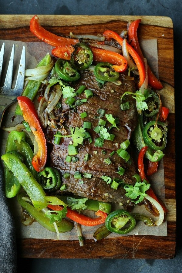 The BEST Steak Fajitas you will ever eat! Juicy, tender, spicy and flavored to perfection | gardeninthekitchen.com