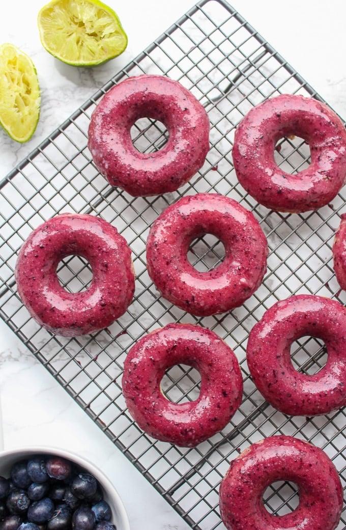 blueberry-lime-glazed-baked-vegan-donuts-3