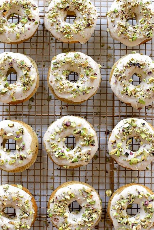 brown-butter-baked-pistachio-doughnuts