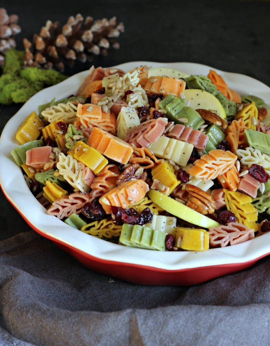 Fall Harvest Pasta Salad | gardeninthekitchen.com