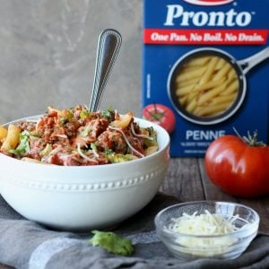 Easy Baked Pasta with Ground Beef
