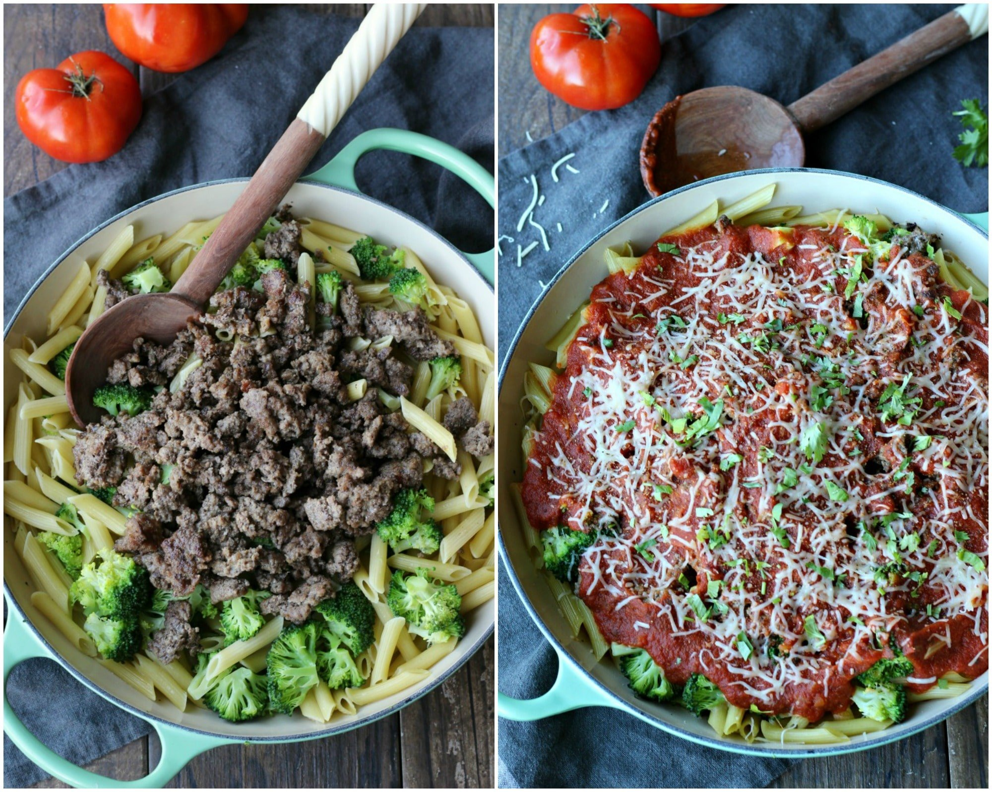 Easy Baked Pasta with Ground Beef | gardeninthekitchen.com