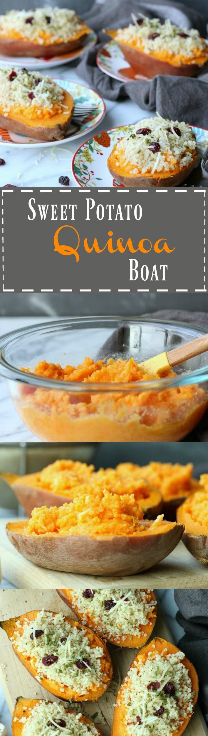 Sweet Potato Quinoa Boat   gardeninthekitchen.com