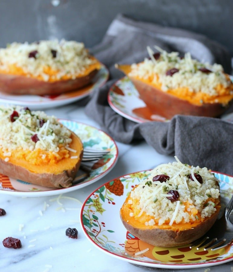 Sweet Potato Quinoa Boat | gardeninthekitchen.com