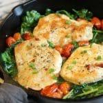 Easy Chicken Spinach Pancetta