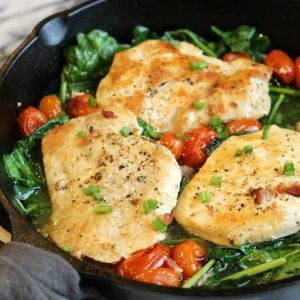 Easy Chicken Spinach Pancetta