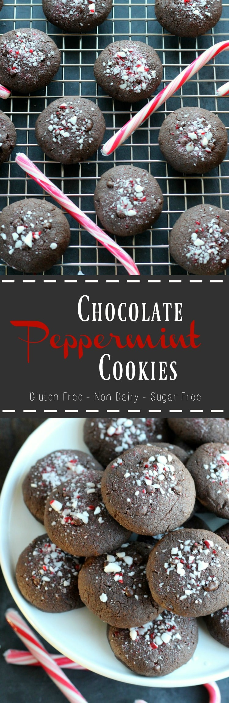 Double Chocolate Peppermint Cookies (Vegan + Gluten Free) | gardeninthekitchen.com