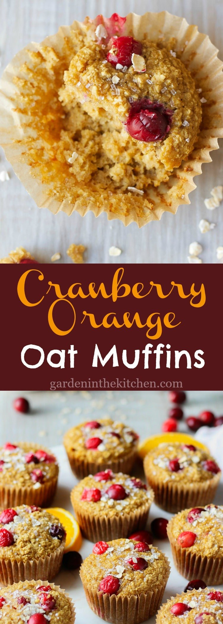 Cranberry Orange Oat Muffins