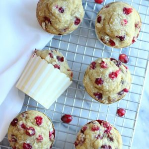 Cranberry Orange Oat Muffins (Gluten-Free)