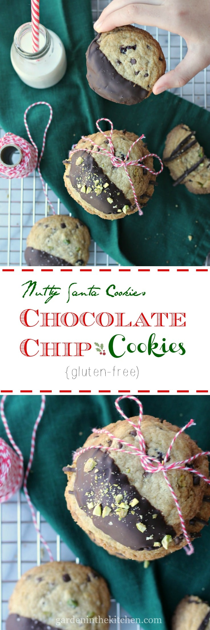Nutty Chocolate Chip Cookies (Gluten-free) | gardeninthekitchen.com