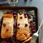 Maple Soy Cranberry Salmon