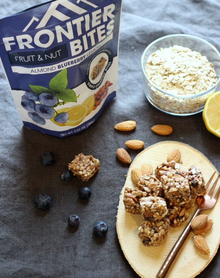 Almond Blueberry Lemon Energy Bite the ULTIMATE Healthy Snack | gardeninthekitchen.com