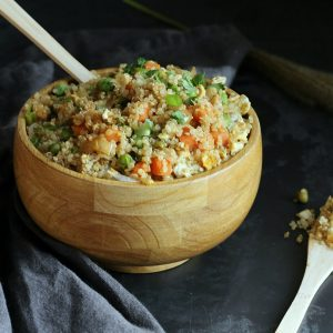 Quinoa Fried Rice (Gluten-free, Soy-free)
