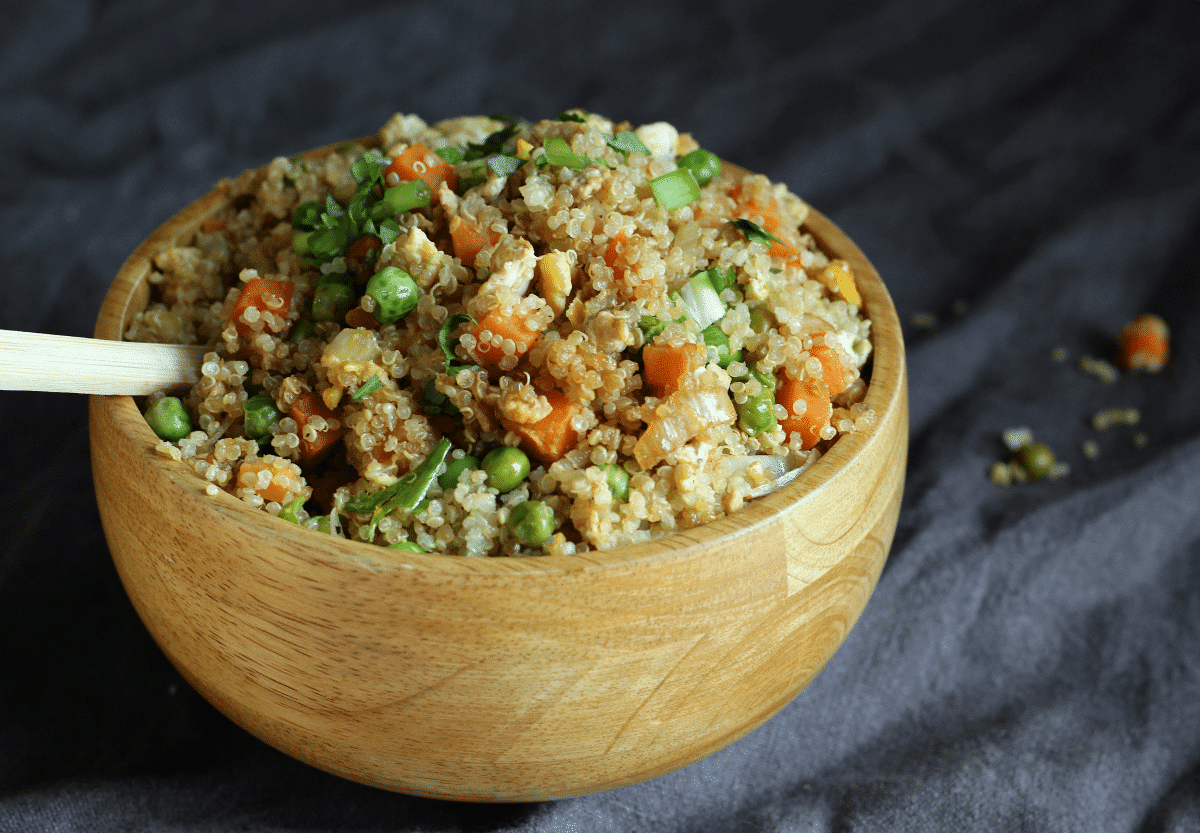 HEALTHY Quinoa Fried Rice | gardeninthekitchen.com