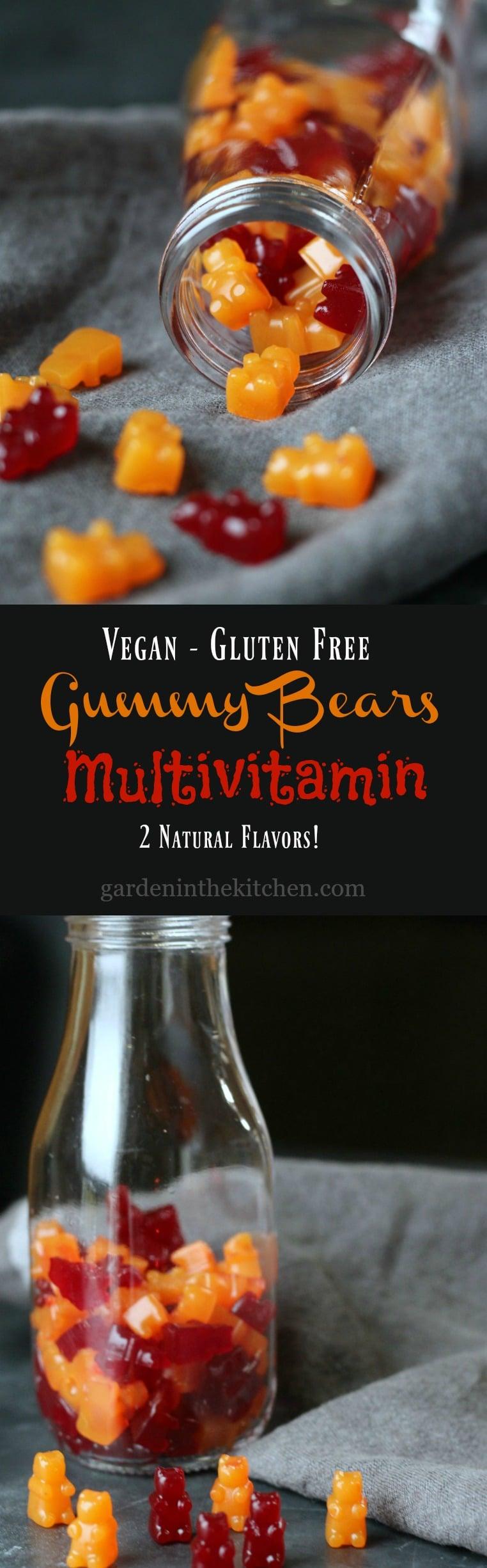 Gummy Bears Multivitamin (Vegn, Gluten-free) | gardeninthekitchen.com