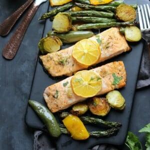 Sheet Pan Garlic-Lemon Salmon