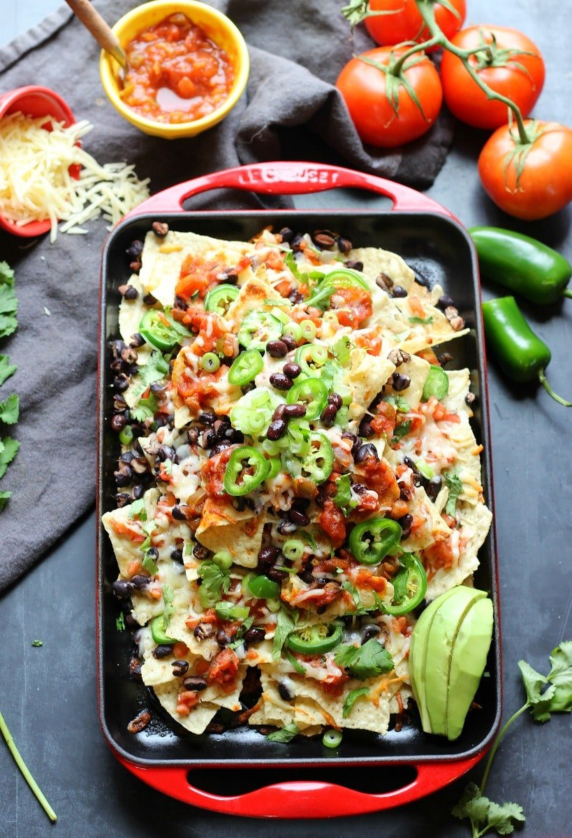 Sheet Pan Spicy Nachos | gardeninthekitchen.com