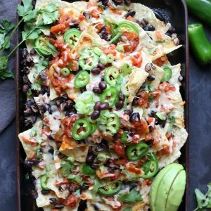 Check out this Sheet Pan Spicy Nachos recipe!