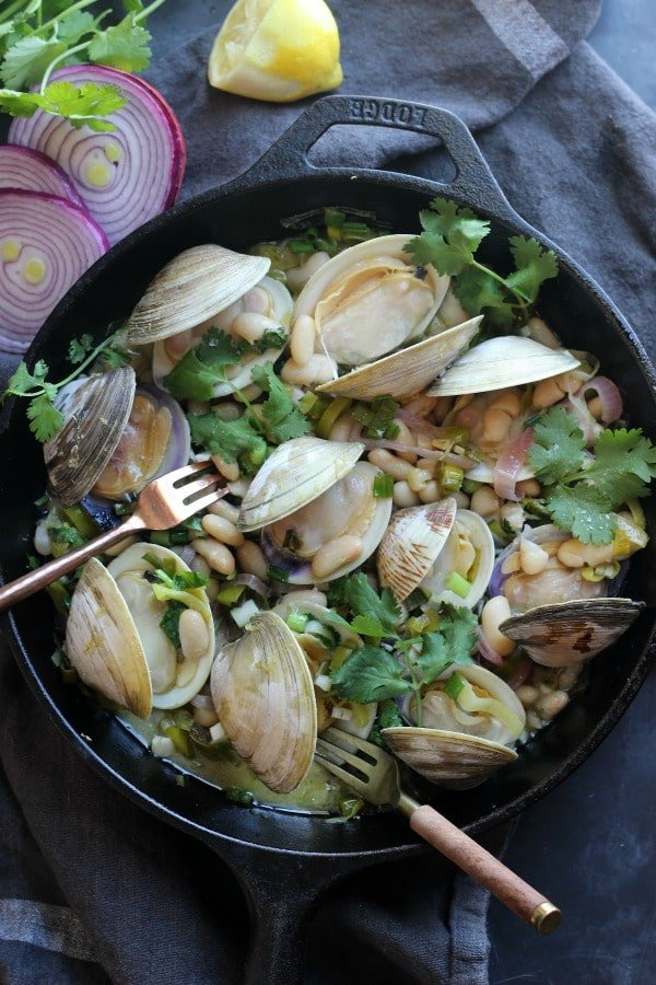 Clam in White Bean Sauce | gardeninthekitchen.com
