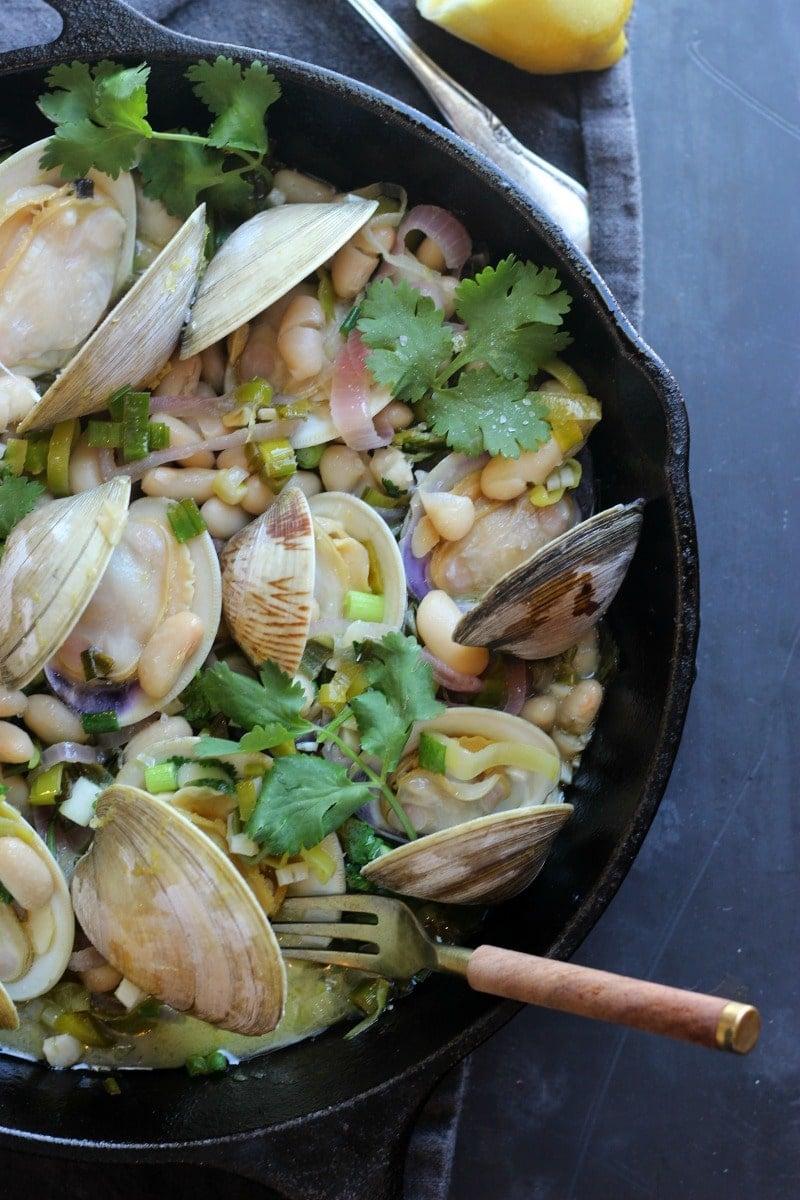 Clam in White Bean Sauce | gardeninthekitchen.com