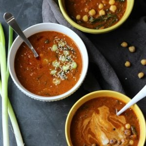 French Lentil & Chickpea Soup (Vegan, Gluten-free)