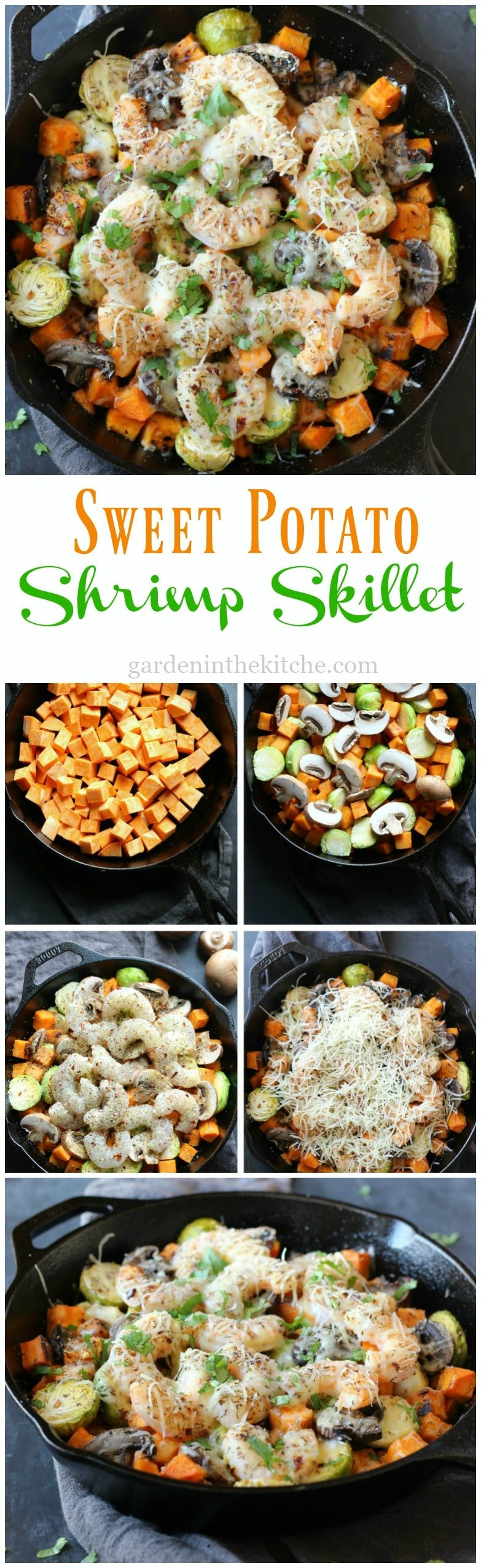 Sweet Potato Shrimp Skillet | gardeninthekitchen.com