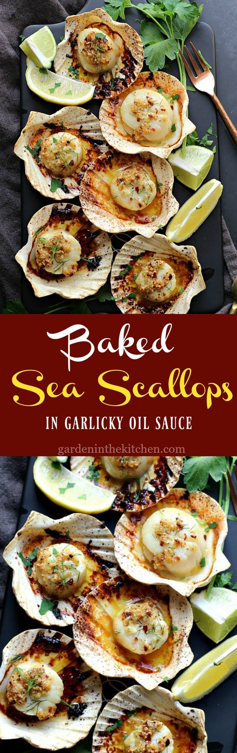 Baked Sea Scallops