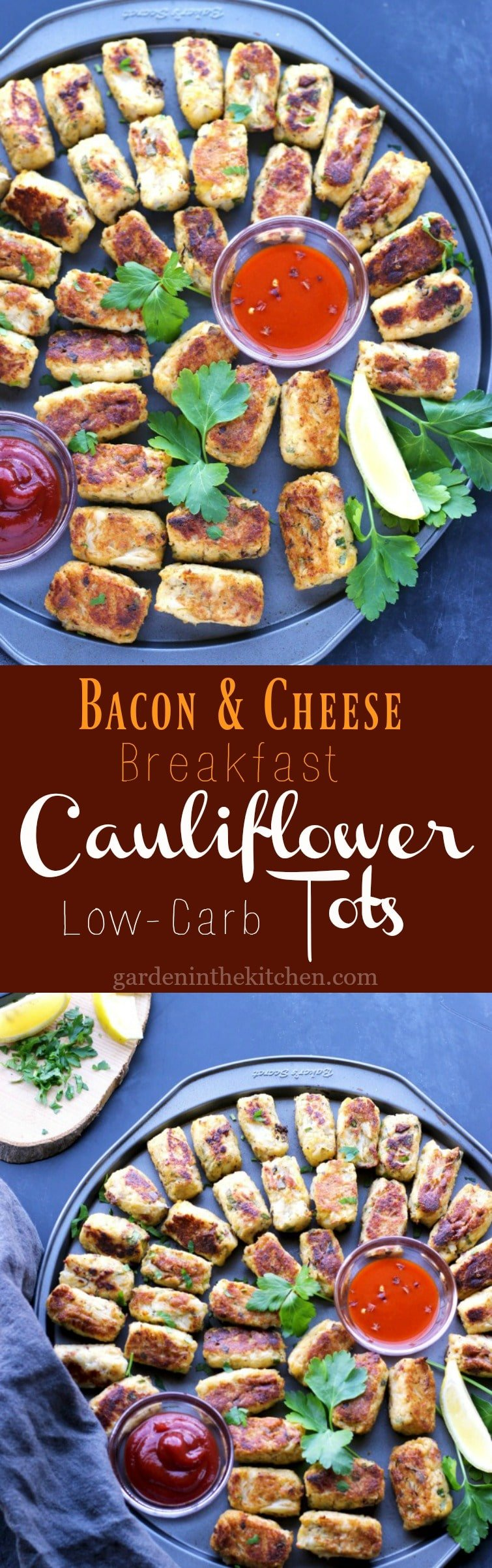 Bacon & Cheese Cauliflower Tots