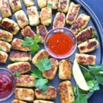 Garlic & Cheese Breakfast Cauliflower Tots
