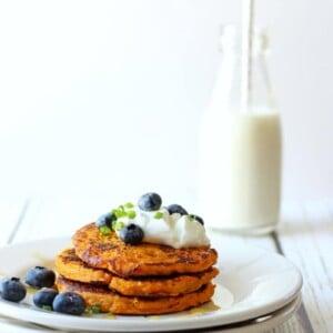 Paleo Sweet Potato Pancakes (GF)