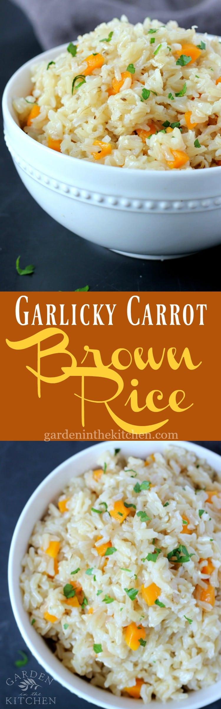 Garlicky Carrot Brown Rice