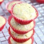 Lemon Poppy Seed Mini Muffins (Gluten-free)
