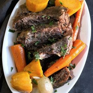 Slow Cooker Pot Roast and Vegetables